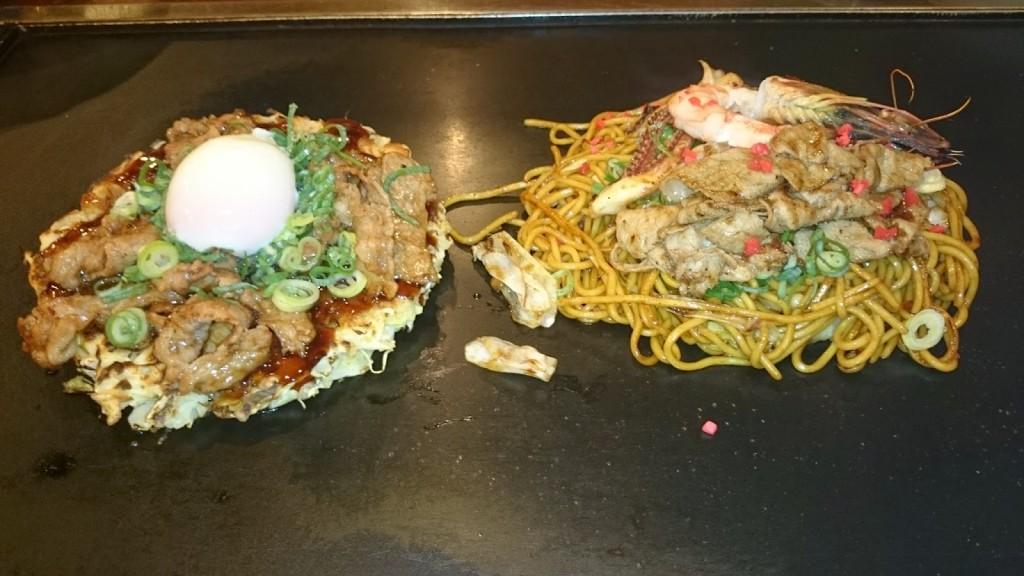 Okonomiyaki to Yakisoba